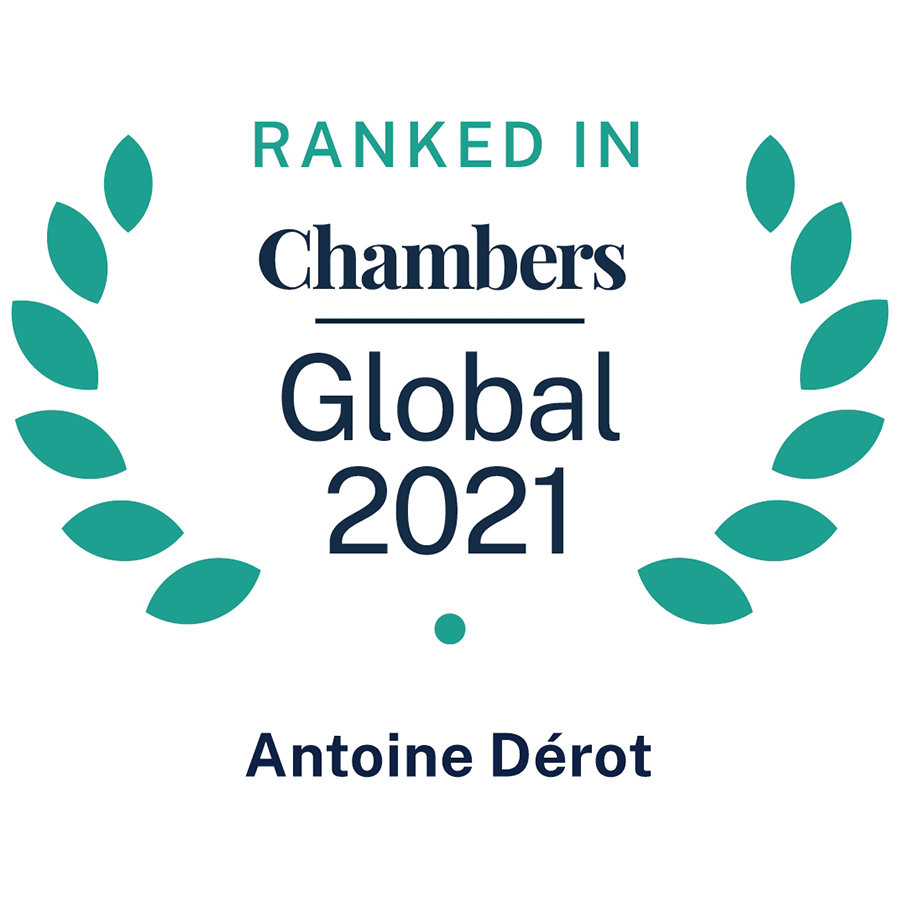 Antoine Dérot, associé RMT • Ranked in Chambers Global 2021