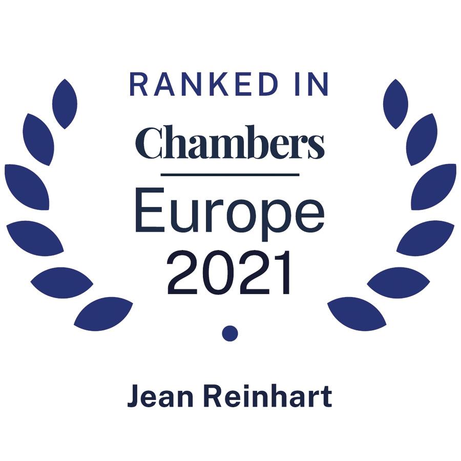 Jean Reinhart • Reinhart Marville Torre • Ranked in Chambers Europe 2021