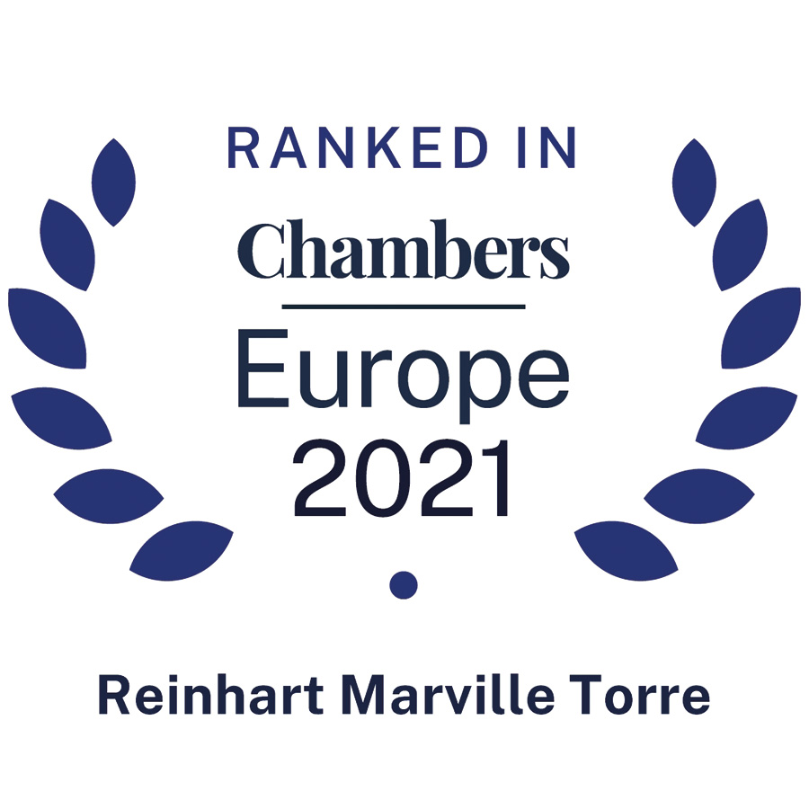 Reinhart Marville Torre • Ranked in Chambers Europe 2021